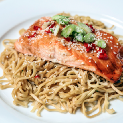 Plum and Ginger Salmon