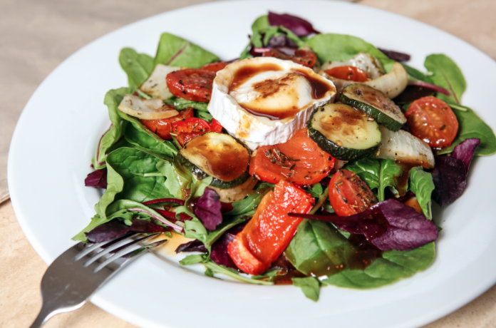 Roasted Vegetable and Goats Cheese Salad