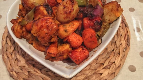 Balsamic and fig roasted vegetables recipe